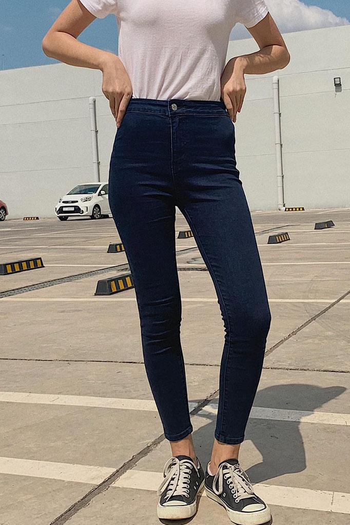Quần Jean Nữ Lưng Cao 4 Màu